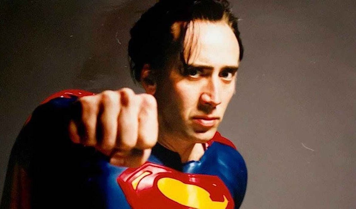 Nicolas Cage as Superman in Tim Burton's Superman Lives from 2015 The Death of Superman Lives docume