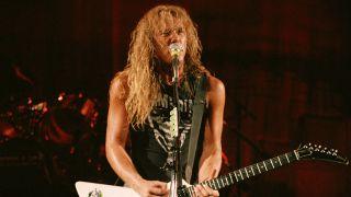 Metallica's James Hetfield in 1986