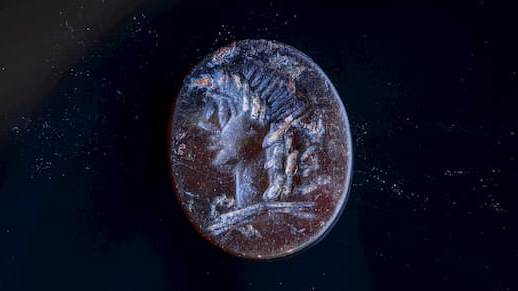 2,000-year-old seal depicting Greek god Apollo found in Jerusalem thumbnail