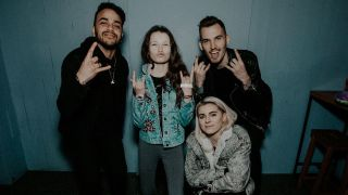 a shot of pvris with a young star from school of rock the musical