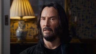 keanu reeves talking to doctor in the matrix resurrections