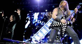 Ozzy Osbourne (left) and Zakk Wylde perform at the Belgrade Calling Festival in Belgrade, Serbia on June 28, 2012