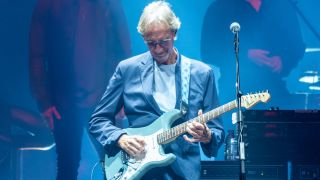 Mike Rutherford performs with Genesis at The SSE Hydro on October 07, 2021 in Glasgow, Scotland