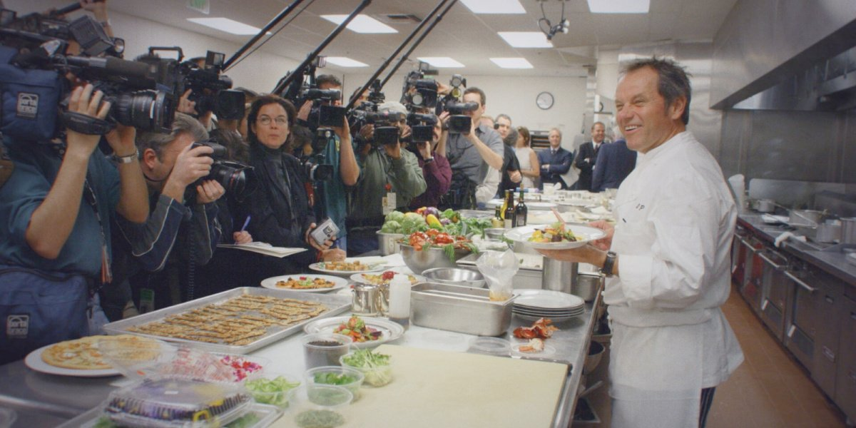Wolfgang Puck in his documentary film, Wolfgang, on Disney+.