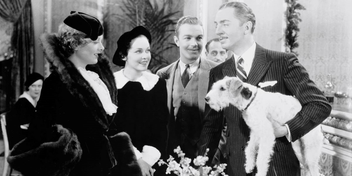 Myrna Loy and William Powell in The Thin Man