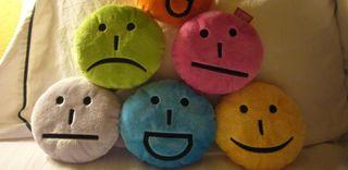 Emoticon pillows, emotions, facial expressions