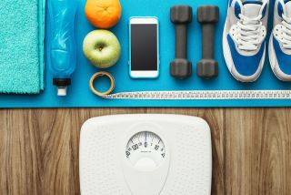 scale food and workout gear