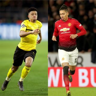 Jadon Sancho and Chris Smalling