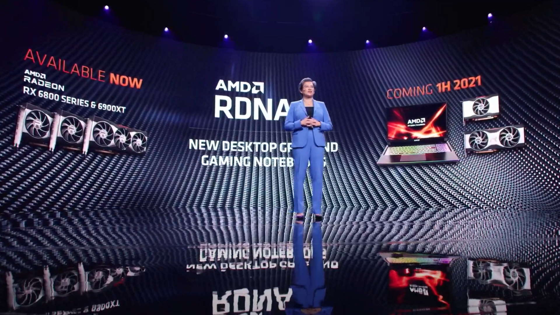 AMD confirms RDNA 2 gaming laptops and mainstream RX 6000 graphics cards in H1 2021