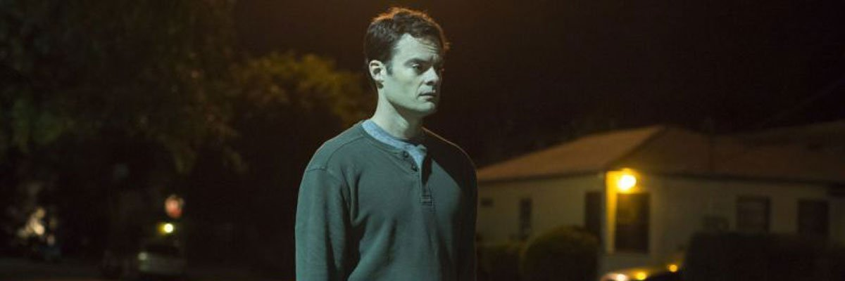 Bill Hader with a gun in Barry