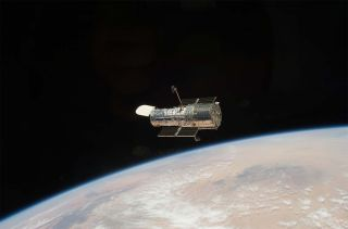NASA's Hubble Space Telescope launched in 1990 and has been a crucial scientific instrument.