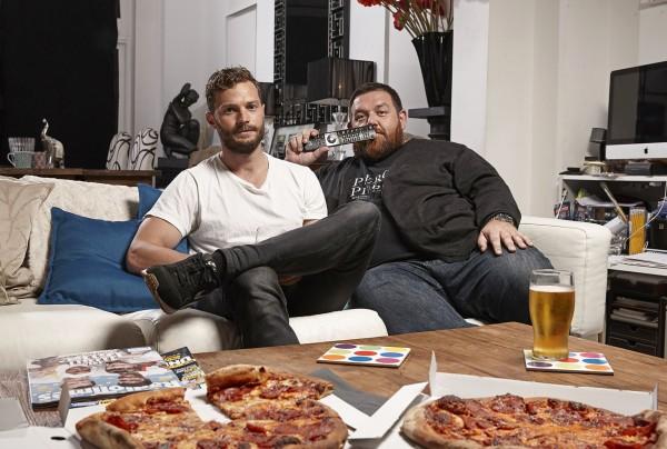Jamie Dornan and Nick Frost on Celebrity Gogglebox