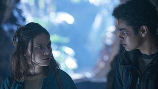 "Dafne Keen and Amir Wilson in Season 2 of ""His Dark Materials"" on HBO."