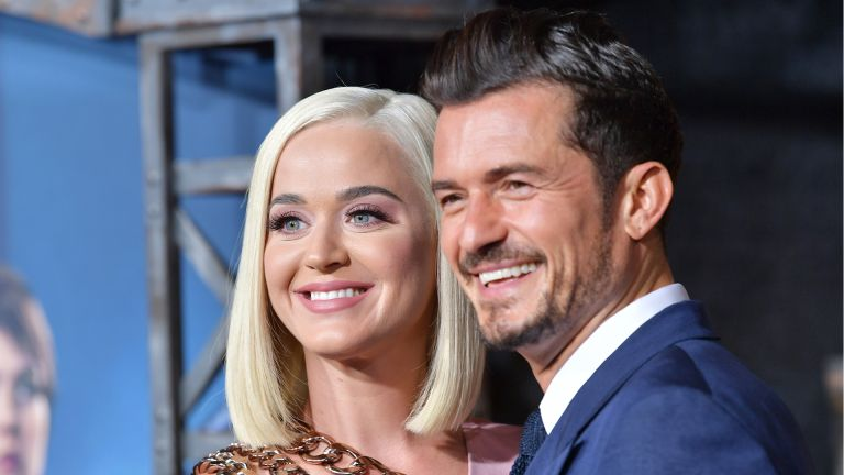 """HOLLYWOOD, CALIFORNIA - AUGUST 21: Katy Perry and Orlando Bloom arrive at the LA Premiere Of Amazon's """"Carnival Row"""" at TCL Chinese Theatre on August 21, 2019 in Hollywood, California. (Photo by Amy Sussman/FilmMagic,)"""