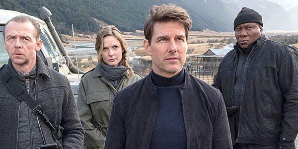 Mission: Impossible - Fallout cast Simon Pegg Rebecca Ferguson Tom Cruise Ving Rhames