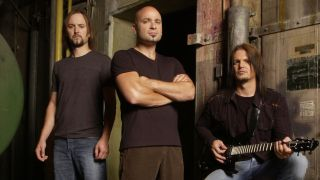 A press shot of Disturbed in 2005