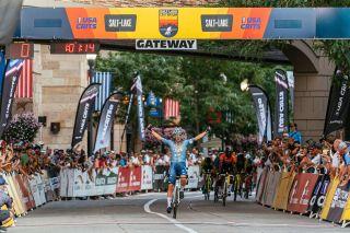 Tyler Williams (LEGION) takes the win in Salt Lake Criterium