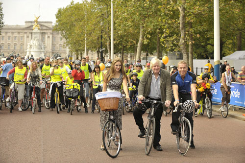 Kelly Brook, Boris Johnson, Chris Hoy, Mayor of London Skyride 2009