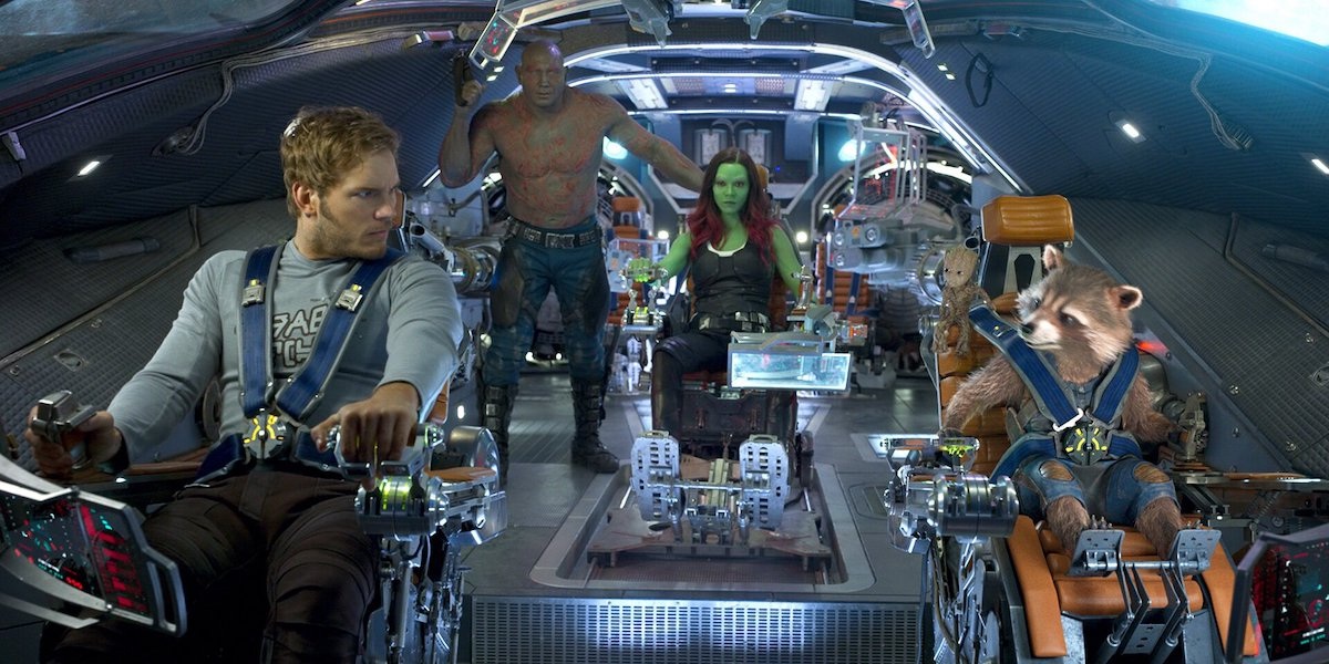 Guardians of the Galaxy inside spaceship during Vol. 2