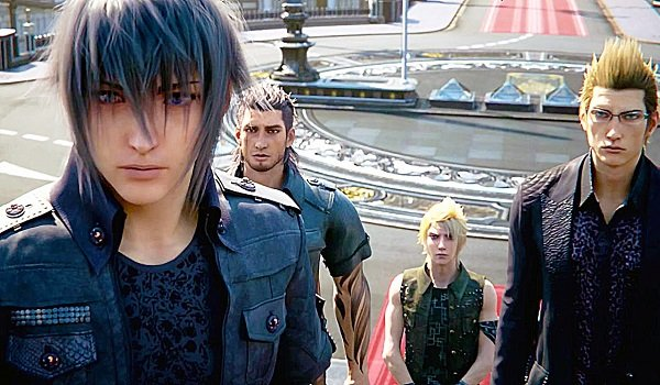 Noctis and Co. in Final Fantasy 15