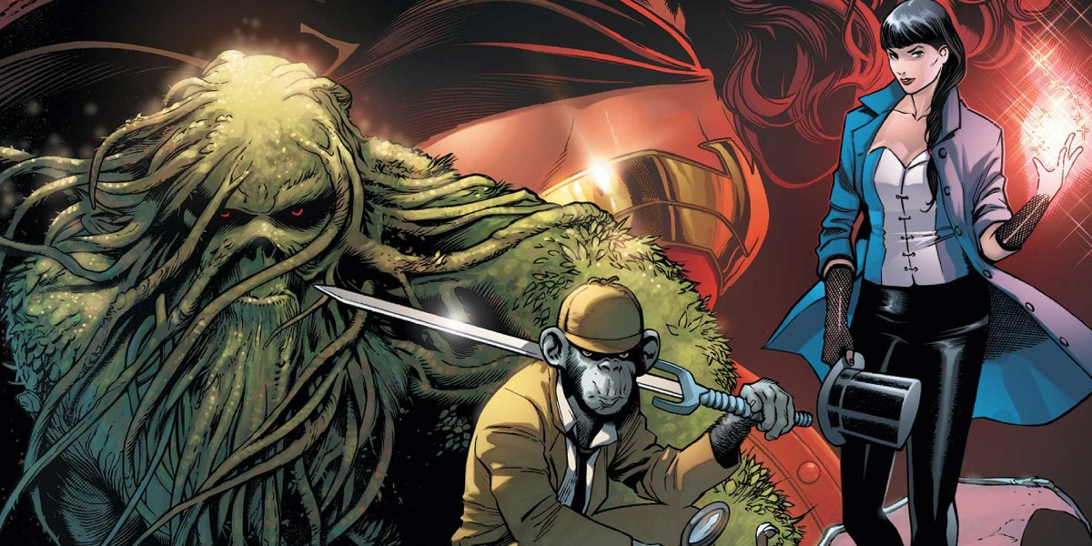 Swamp Thing, Detective Chimp, among others joined Zatanna in Justice League Dark