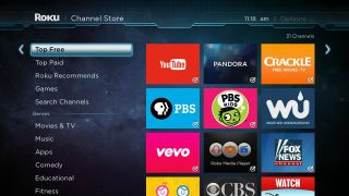 The top free feature in Roku's Channel Store