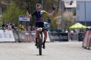 Haley Batten was third in the Albstadt World Cup 2021