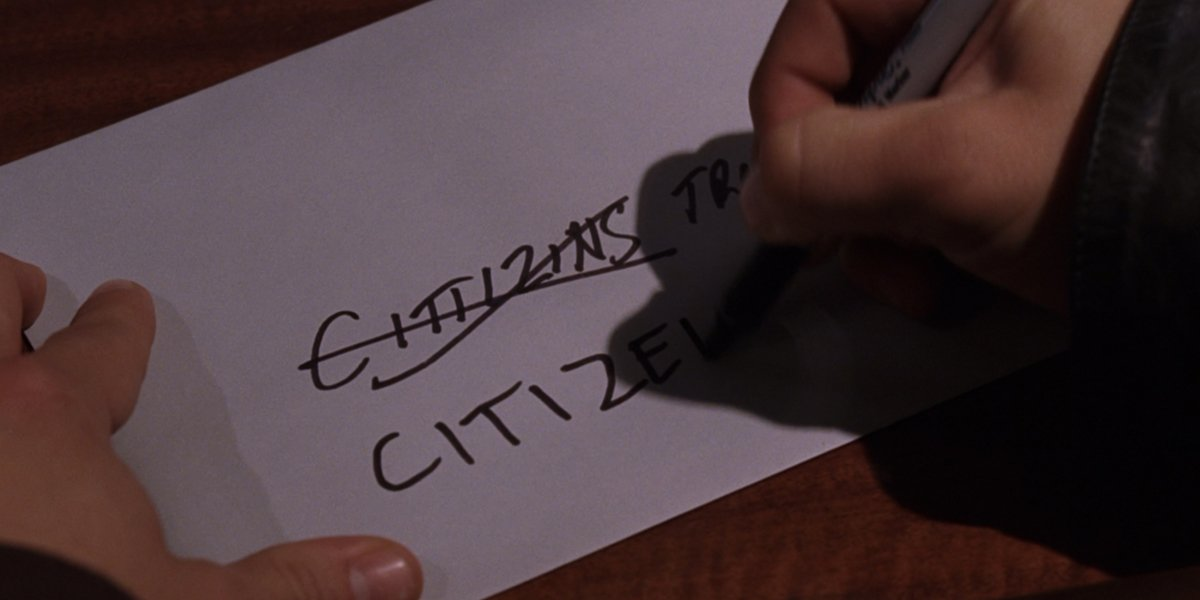 Citizen Trust Envelope in The Departed