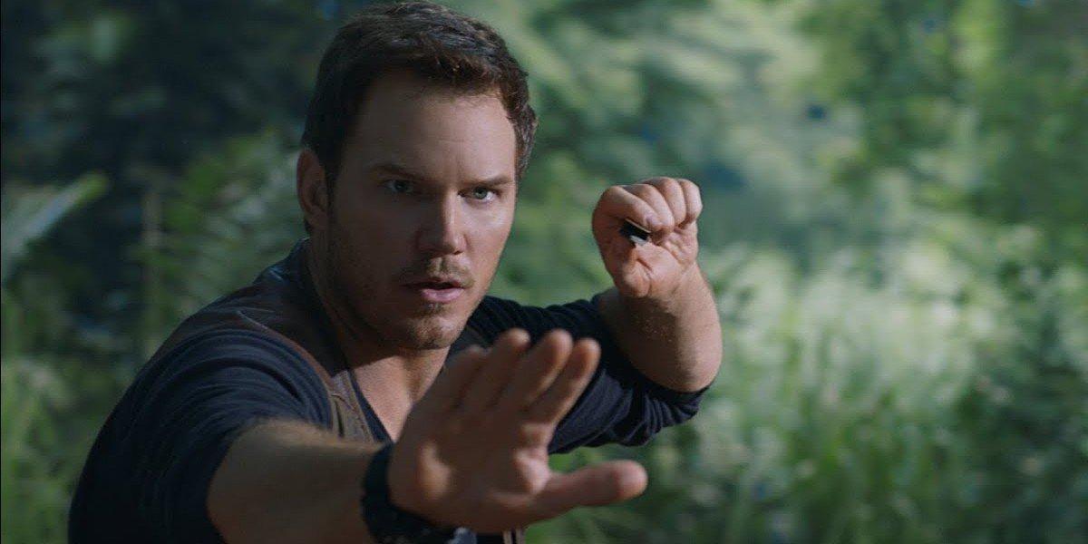 Chris Pratt as Owen Grady in Jurassic World: Fallen Kingdom (2018)