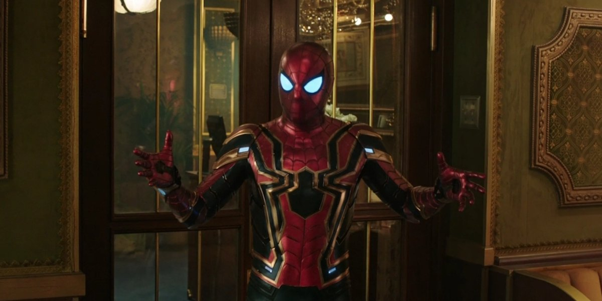 Tom Holland in Iron Spider suit, Spider-Man Far From Home