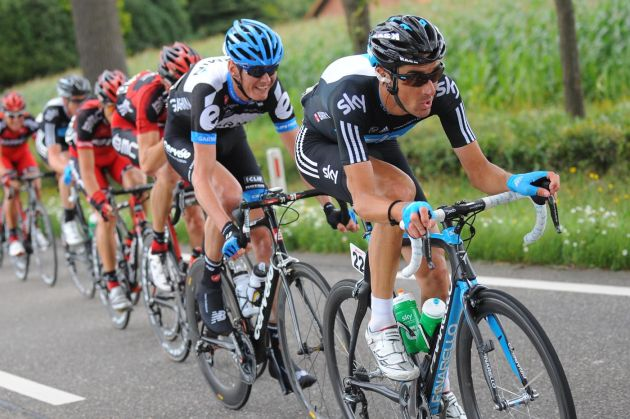 Michael Barry chases, Eneco Tour 2011, stage one