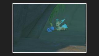Pokemon Snap behind waterfall