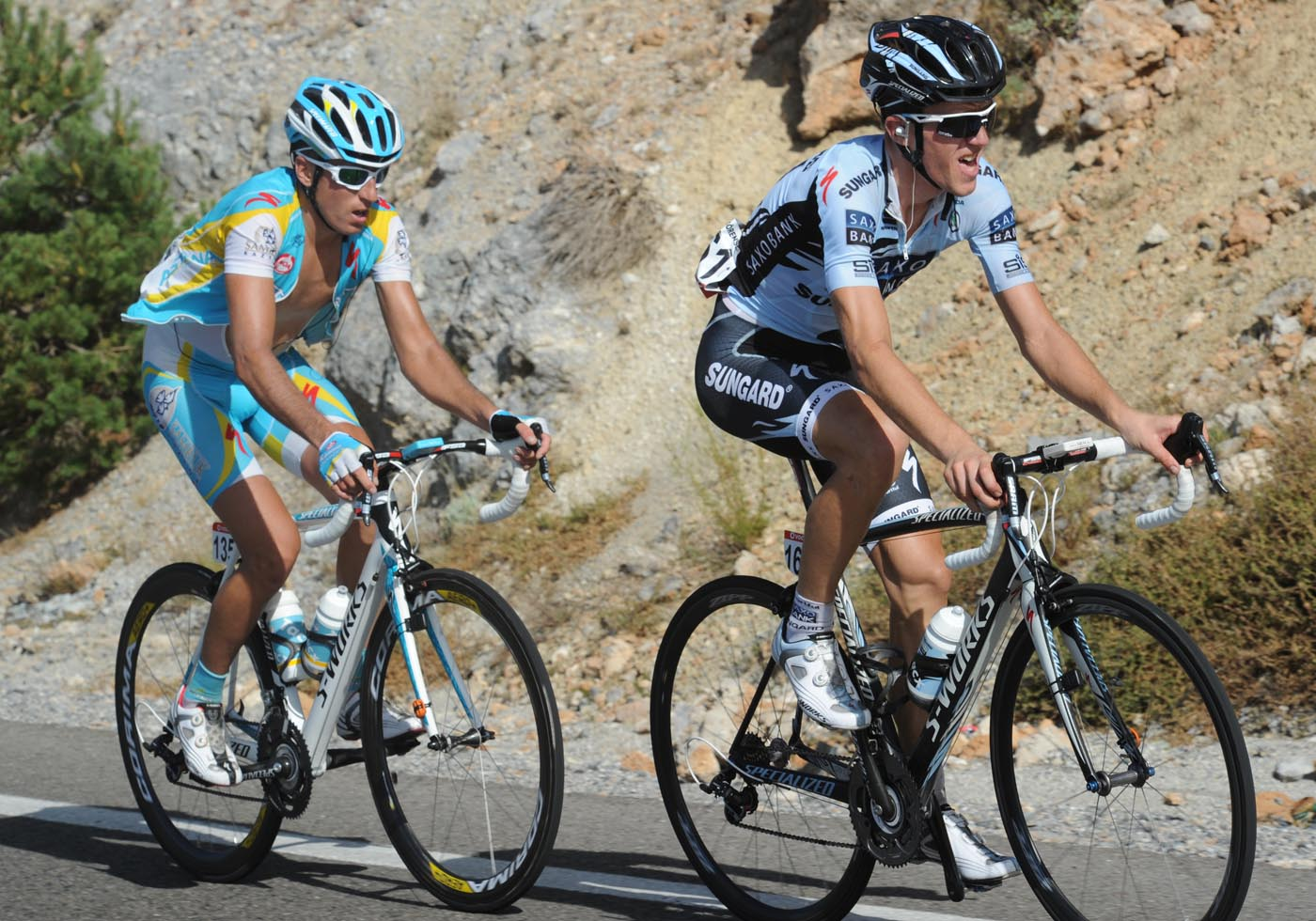 Chris Anker Sorensen escapes, Vuelta a Espana 2011, stage four