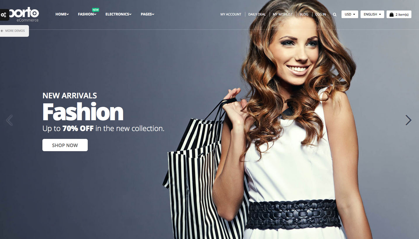 The 10 best HTML5 template designs: Porto