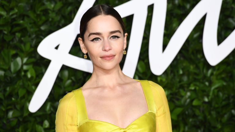 Emilia Clarke arrives at The Fashion Awards 2019 held at Royal Albert Hall on December 02, 2019 in London, England