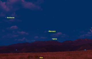Mercury Sky Map for Nov. 1, 2014