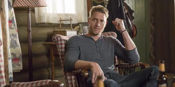 This Is Us Justin Hartley in a Rocking Chair