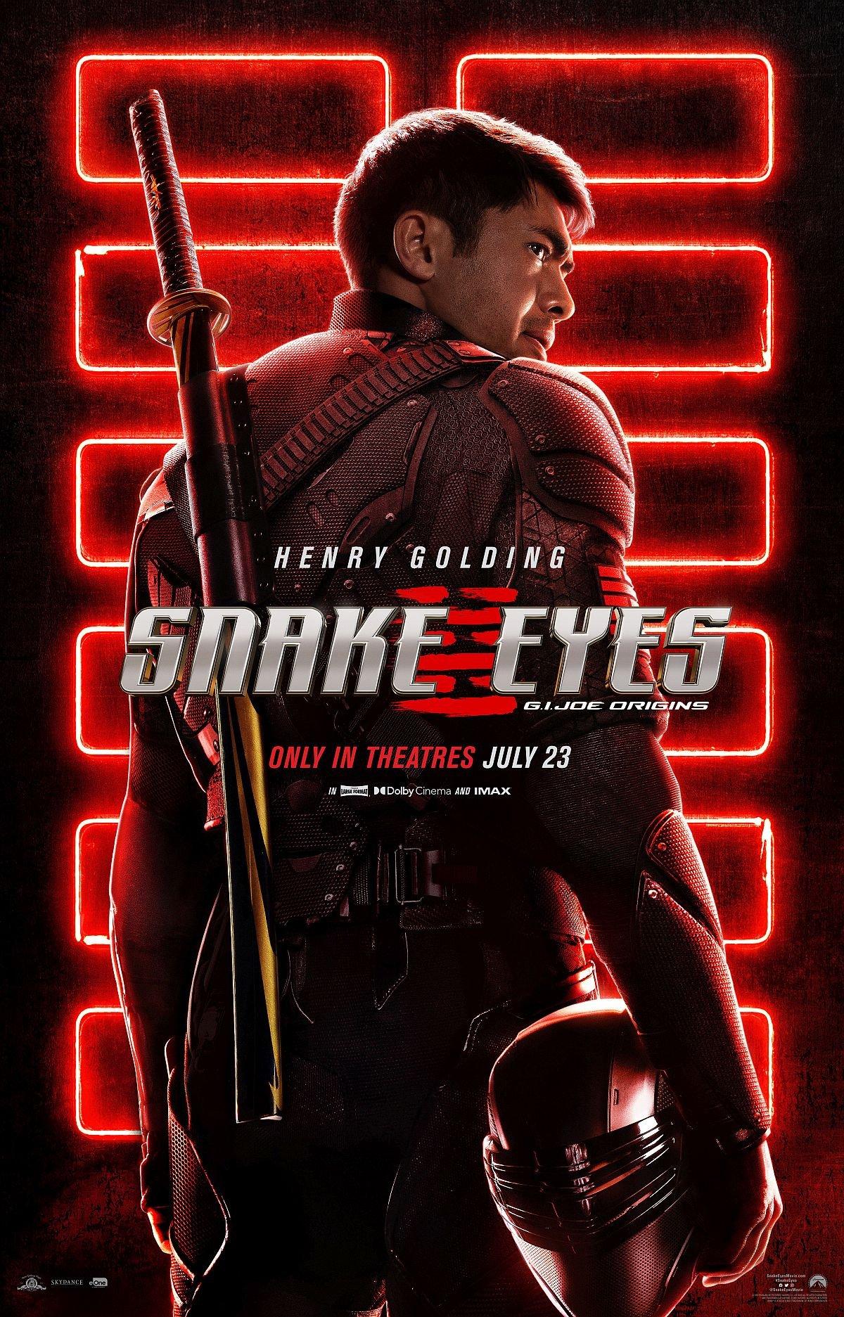 Henry Golding in Snake Eyes Poster
