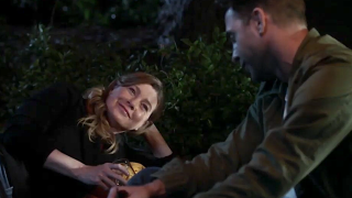 Screenshot of Meredith and Nick on a date on Grey's Anatomy.