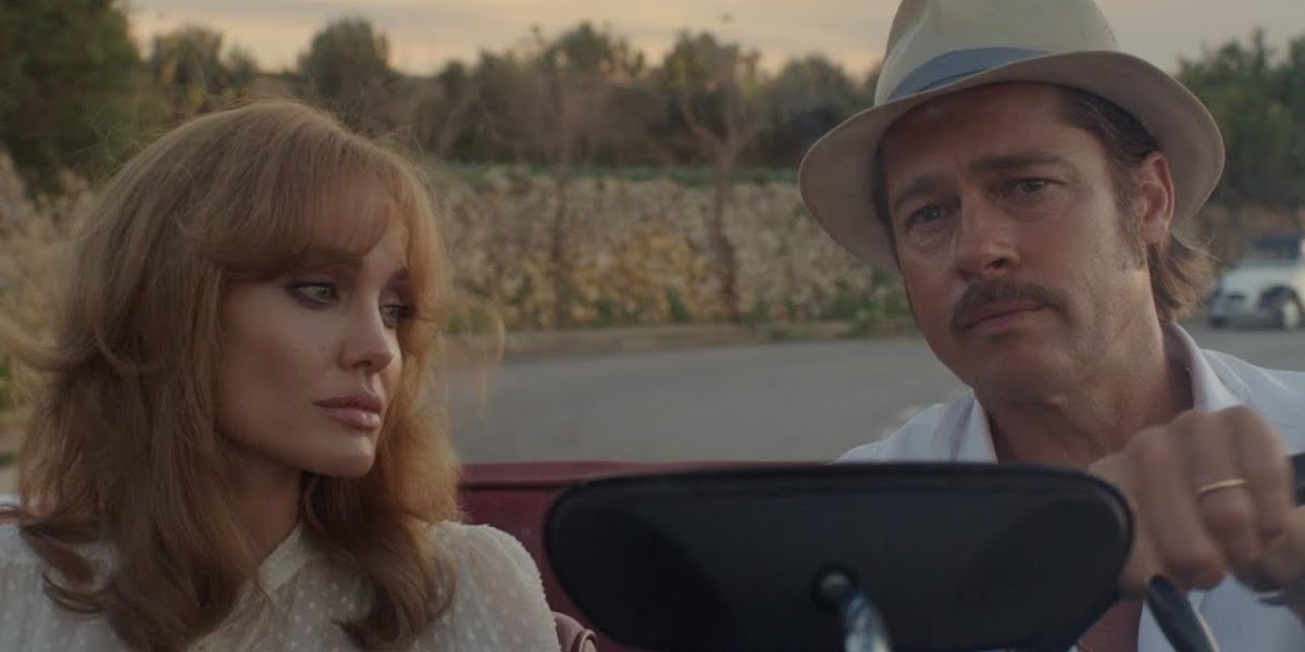 Angelina Jolie and Brad Pitt in a car together in By The Sea