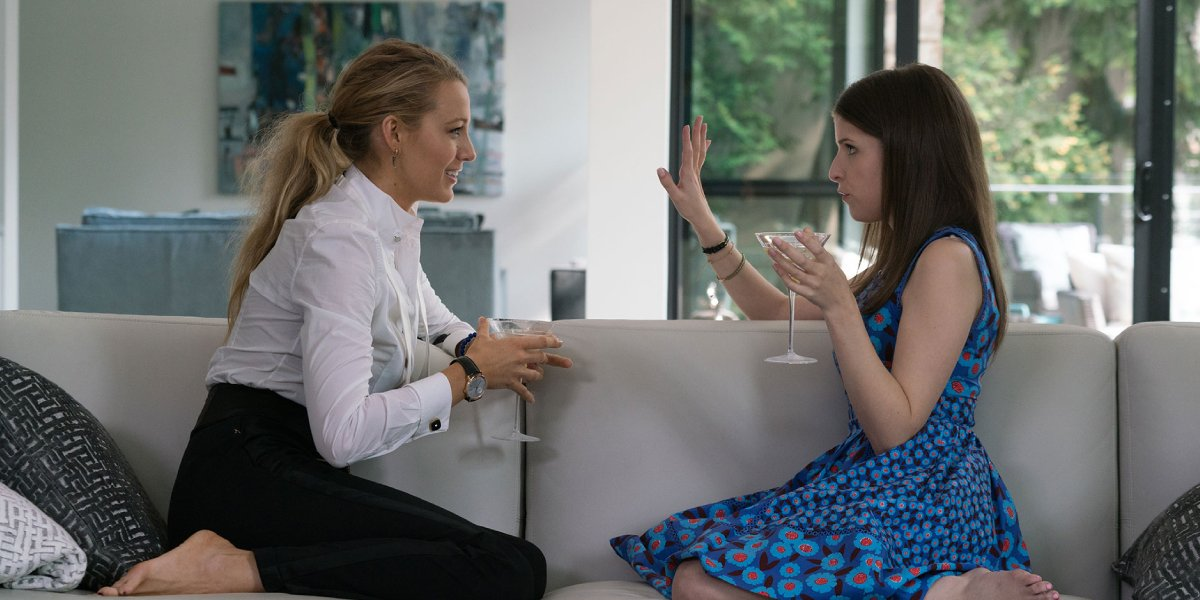 Blake Lively and Anna Kendrick in A Simple Favor