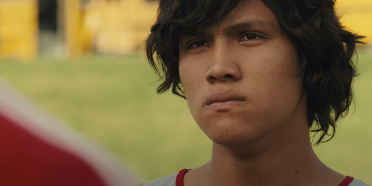 McFarland USA Johnny Ortiz with a look of determination