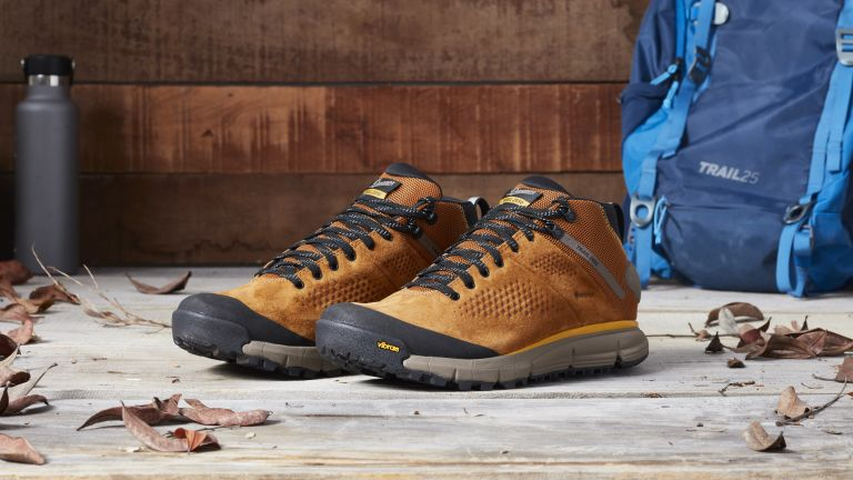 Best men's walking shoes: brown Danner walking shoes