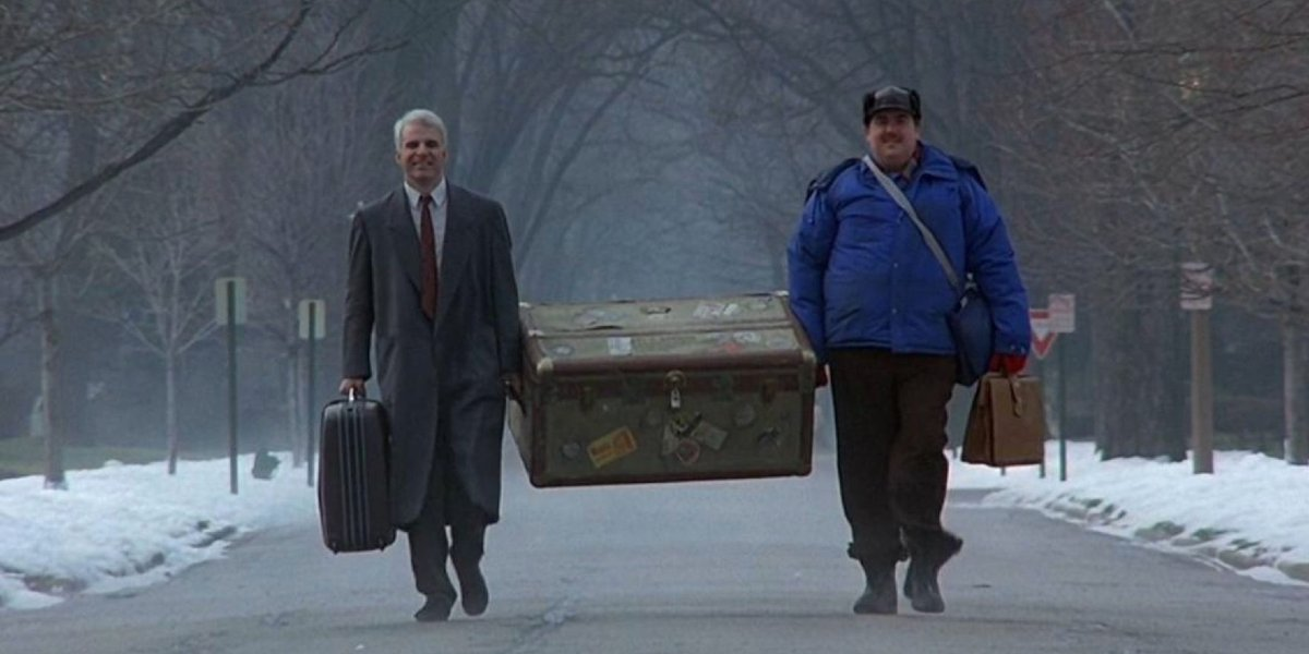 Steve Martin and John Candy in Planes, Trains And Automobiles