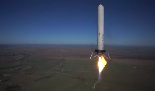 On Oct. 7, 2013, SpaceX's Grasshopper rocket climbed 2,441 feet (744 meters) into the air before safely landing back on its launch pad in McGregor, Texas.