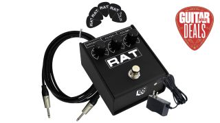 Get the ultimate distortion effects bundle – a ProCo Rat 2, cable, power supply and picks – for only $90