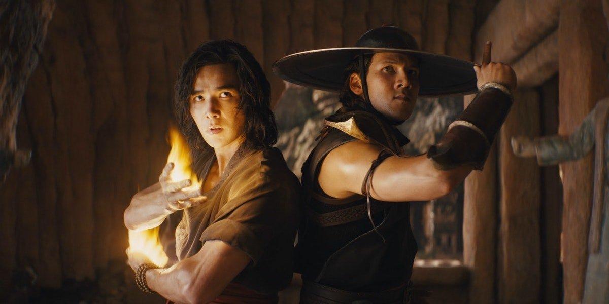 Ludi Lin and Max Huang as Lui Kang and Kung Lao in Mortal Kombat