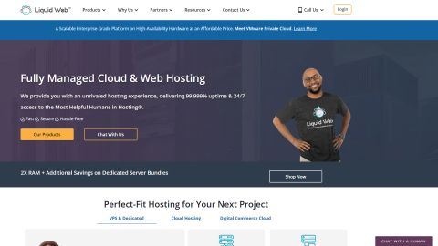 Liquid Web's homepage