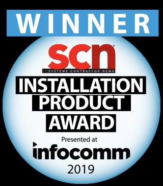 SCN InfoComm 2019 Installation Product Award Winner