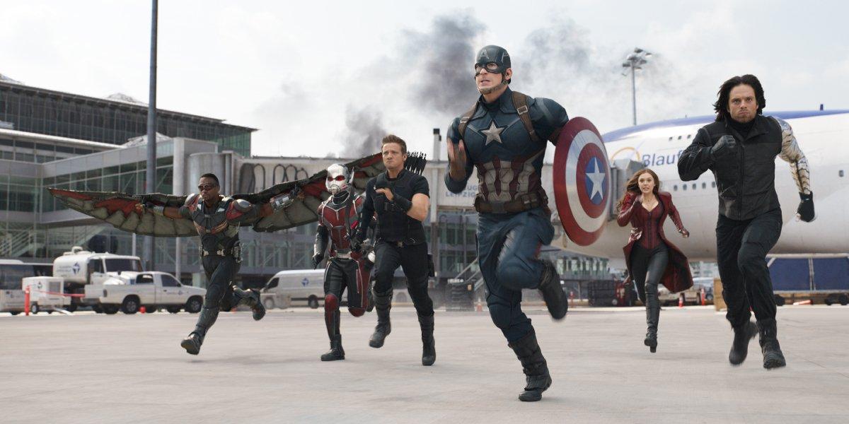 Steve Rogers and crew in Captain America: Civil War
